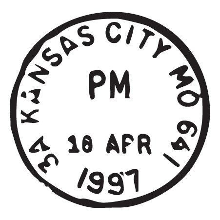 Kansas City MO Postmark Wall Quotes™ Wall Art Decal