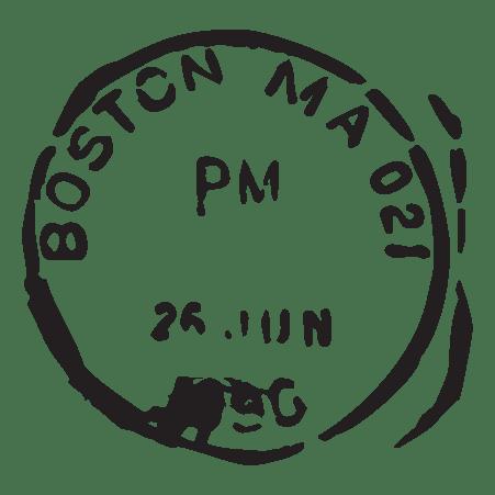 Boston MA Postmark Wall Quotes™ Wall Art Decal
