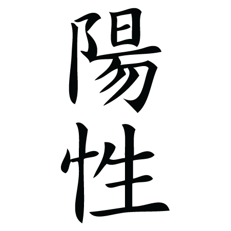 Positive Chinese Symbol Wall Quotes™ Wall Art Decal