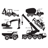Construction Trucks Wall Quotes Wall Art Decal ...