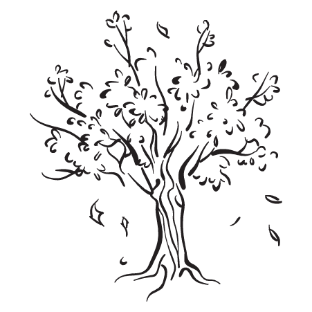 Tree and Leaves Silhouette Wall Quotes™ Art Decal