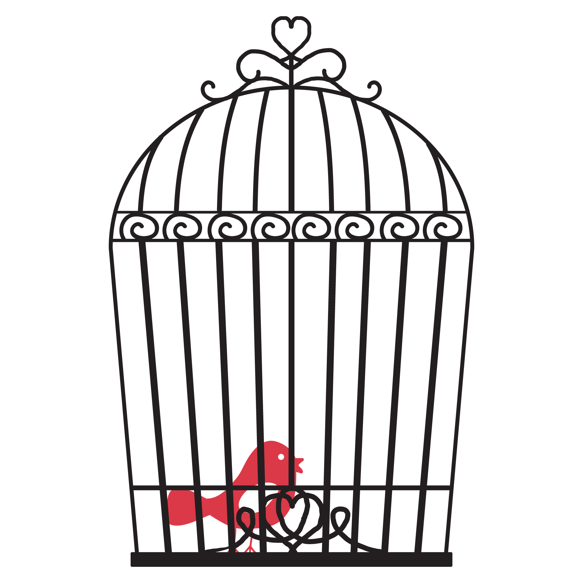 Vintage Bird Cage Wall Quotes Wall Art Decal