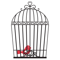 Vintage Bird Cage Wall Quotes Wall Art Decal   WallQuotes.com