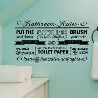 Bathroom Rules Elegant Wall Quotes Decal | WallQuotes.com
