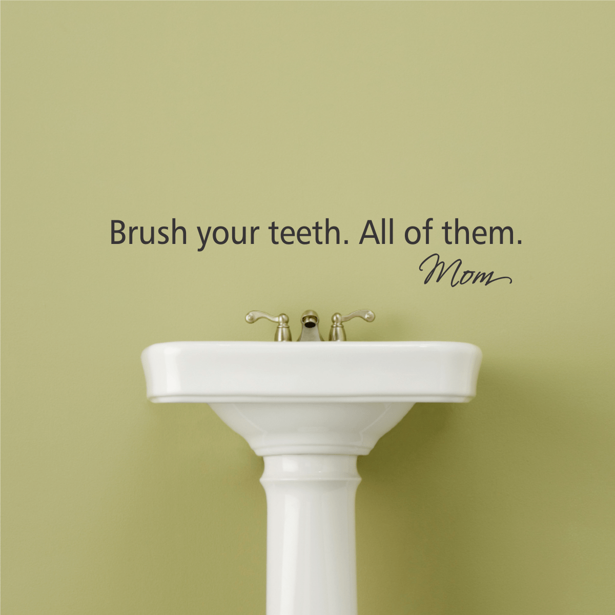 Brush Your Teeth Wall Quotes Decal  WallQuotescom