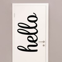 Oversized Hello Script Wall Quotes Decal | WallQuotes.com