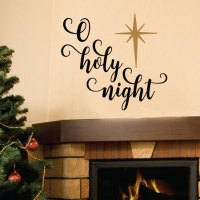 O Holy Night Script Wall Quotes Decal | WallQuotes.com