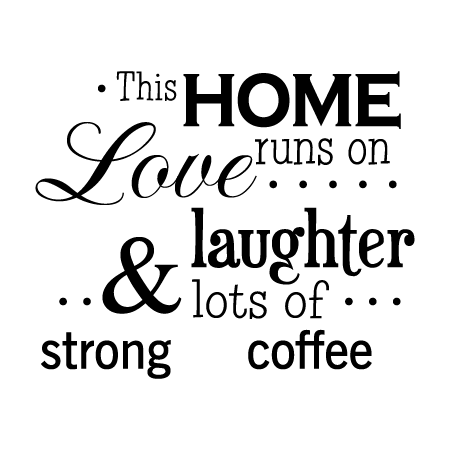 Home Runs on Coffee Classic Wall Quotes™ Decal