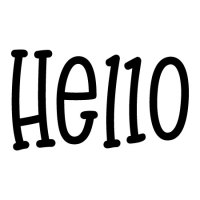 Oversized Hello Print Wall Quotes Decal | WallQuotes.com