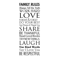 Modern Family Rules Wall Quotes Decal | WallQuotes.com
