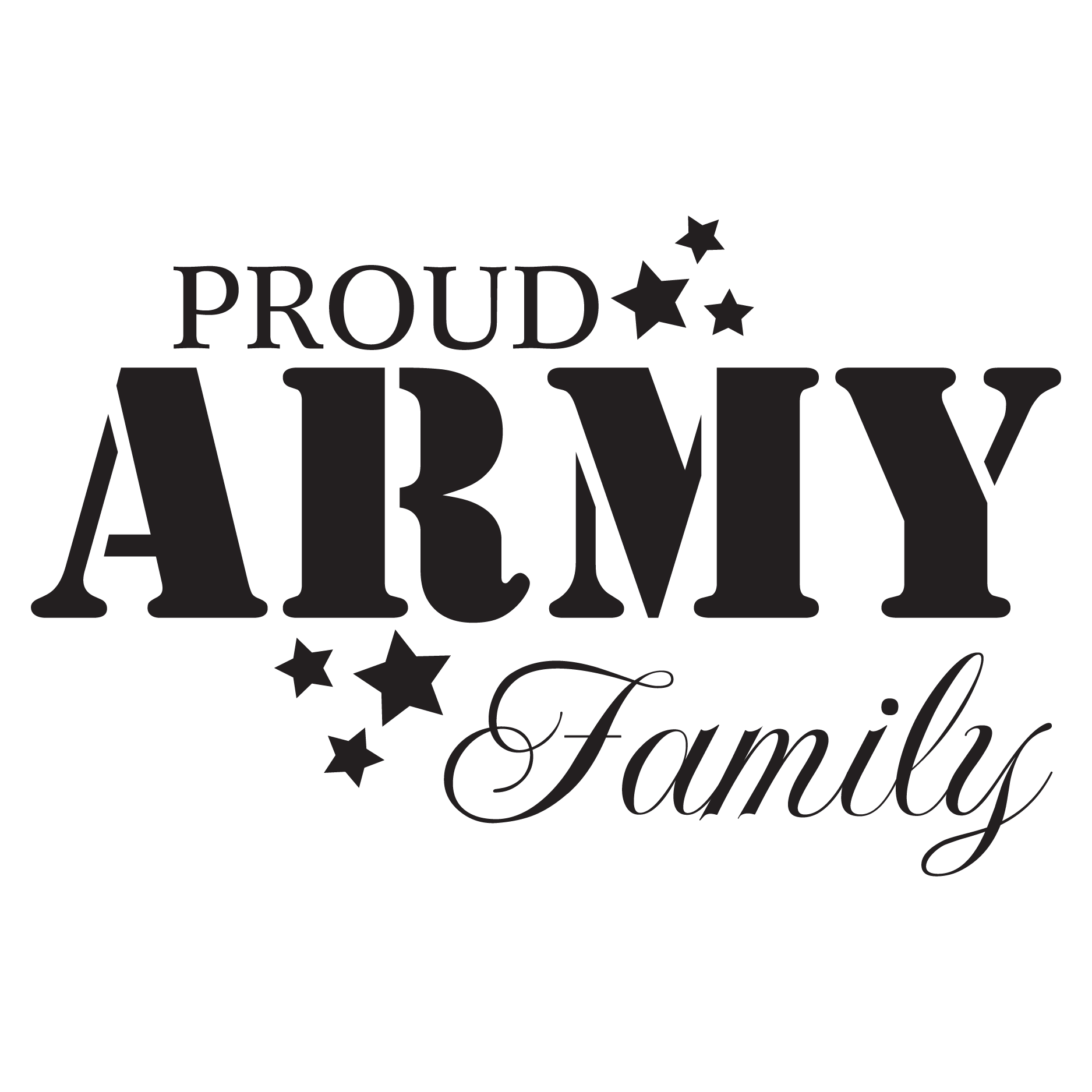 Proud Army Family Wall Quotes Decal