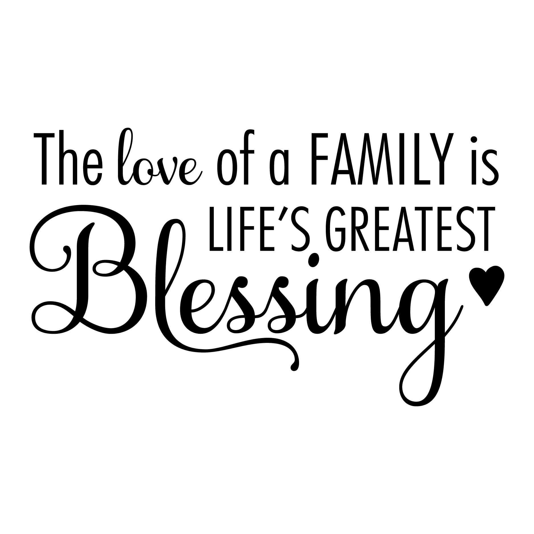 The Love Of A Family Wall Quotes Decal