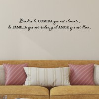Bendice Comida Familia Amor Spanish Wall Quotes Decal ...