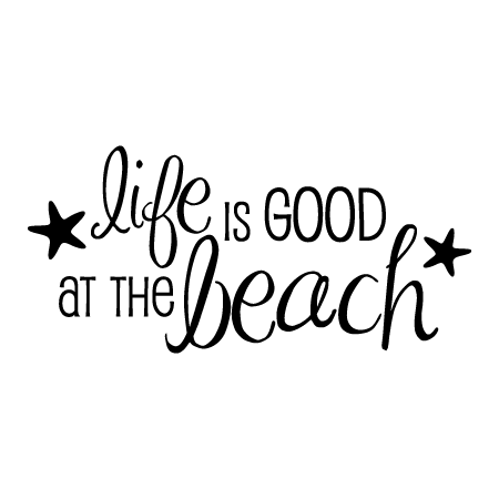 Gold And Teal Wallpaper Quote Life Is Good At The Beach Wall Quotes Decal Wallquotes Com