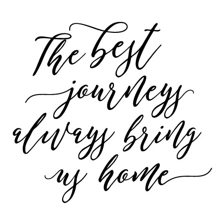 The Best Journeys Bring Us Home Wall Quotes™ Decal