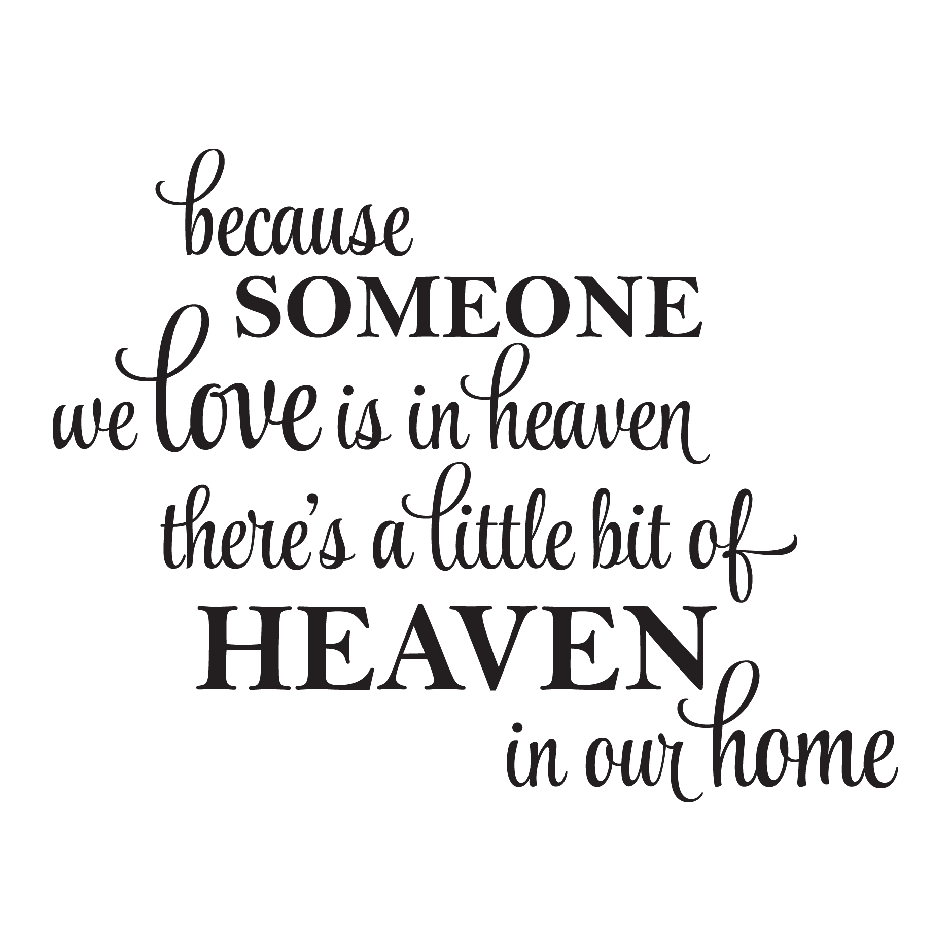 A Little Bit Of Heaven In Our Home Wall Quotes Decal