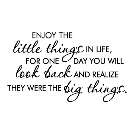 Little Things Are Big Things Wall Quotes™ Decal