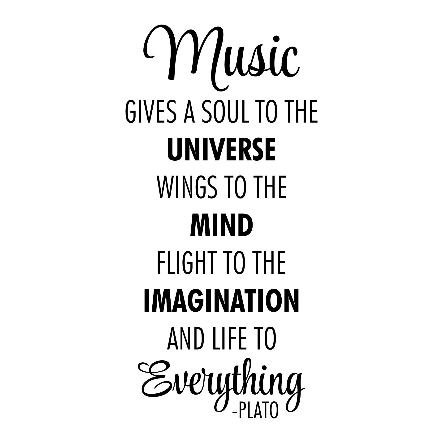 Music Is Life To Everything Wall Quotes™ Decal
