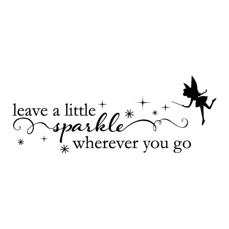 Gold And Teal Wallpaper Quote Fairy Leave A Little Sparkle Wall Quotes Decal