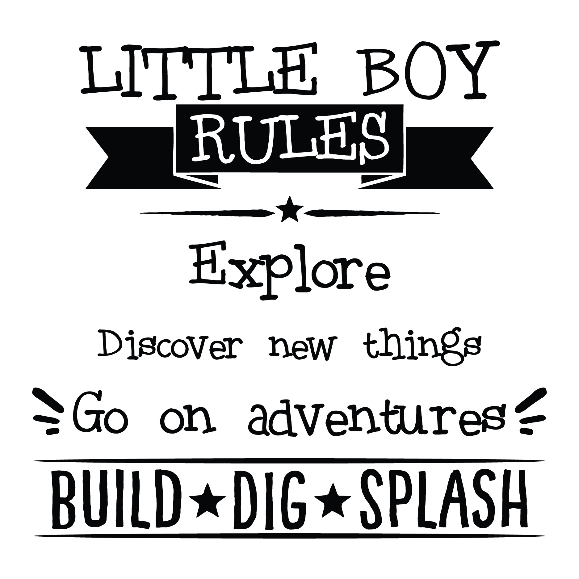 Little Boy Rules Wall Quotes Decal