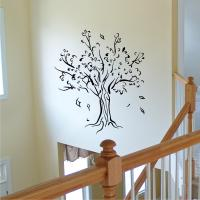 Tree & Leaves Silhouette Wall Quotes Wall Art Decal ...