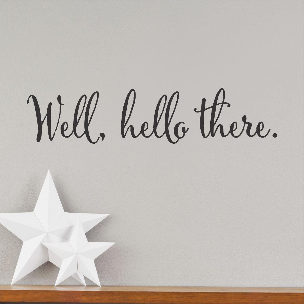 Well Hello There Wall Quotes Decal  WallQuotescom