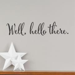 Chalkboard For Kitchen Wall Placemats Well Hello There Quotes™ Decal | Wallquotes.com