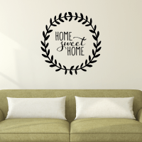 Home Sweet Home Leaves Wall Quotes Decal | WallQuotes.com