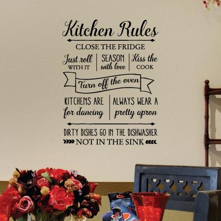 Fall Pics With Scripture Wallpaper Kitchen Rules Wall Quotes Decal Wallquotes Com