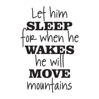 Let Him Sleep Retro Script Wall Quotes Decal ...