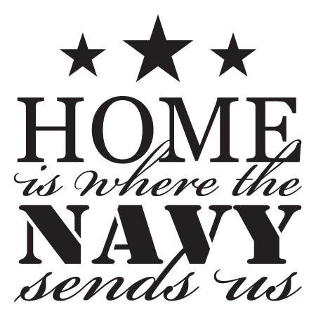 Where The Navy Sends Us Wall Quotes Decal  WallQuotescom