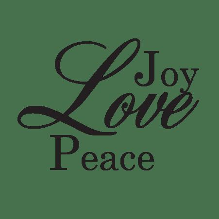 Joy Love Peace Wall Quotes Decal  WallQuotescom