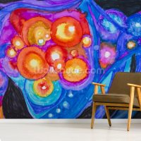Colourful abstract painting Wall Mural & Colourful ...