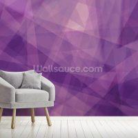 Abstract Purple Geometric Wallpaper Mural | Wallsauce Finland