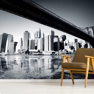 Risparmia $2 con il coupon New York Black White Wallpaper Mural Wallsauce It