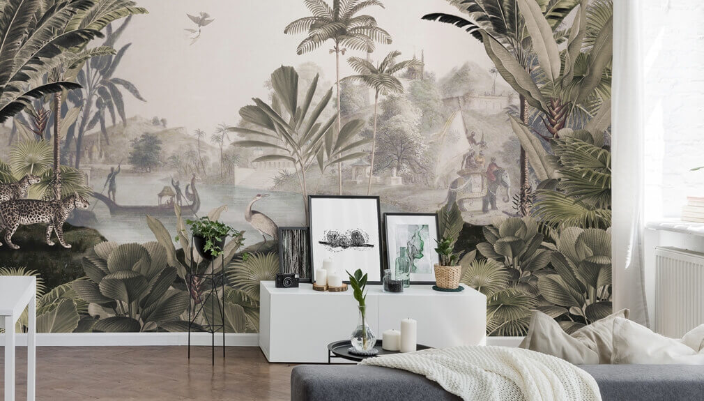 The size of this graphic is completely customizable, following the specific characteristics of your own project. Carta Da Parati Botanica E Murales Wallsauce It
