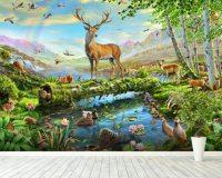Wildlife Splendor UK Wall Mural & Wildlife Splendor UK ...