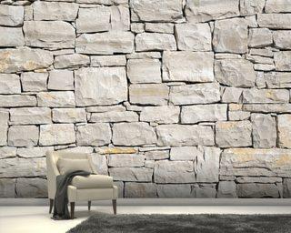 3d Effect Bookcase Wallpaper Stone Effect Wallpaper Amp Stone Wall Murals Wallsauce Uk