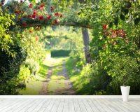 Rose Garden Wallpaper Wall Mural | Wallsauce UK