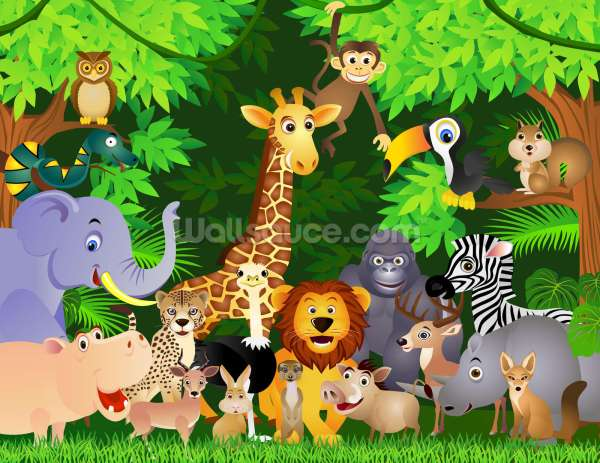 Cartoon Jungle Animal Theme