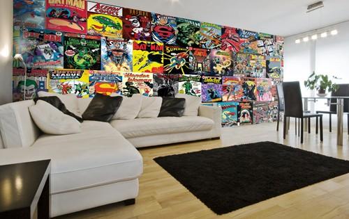 wall mural ideas for living room orange top 10 murals rooms wallsauce uk dc comics wallpaper