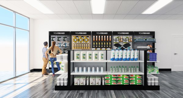 Slimline Gondola Display System - Walls Forms