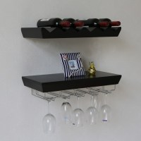 Naiture 22 L x 11 W inch Wall Mounted Wine Rack Bottle and ...