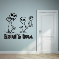 Custom Personalized Name and Alien Wall Decal Sticker ...