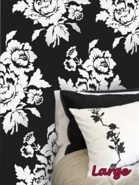 Baroque floral pattern wall decals