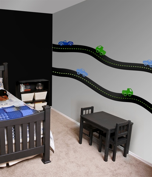 Road  Car Wall Decals Stickers