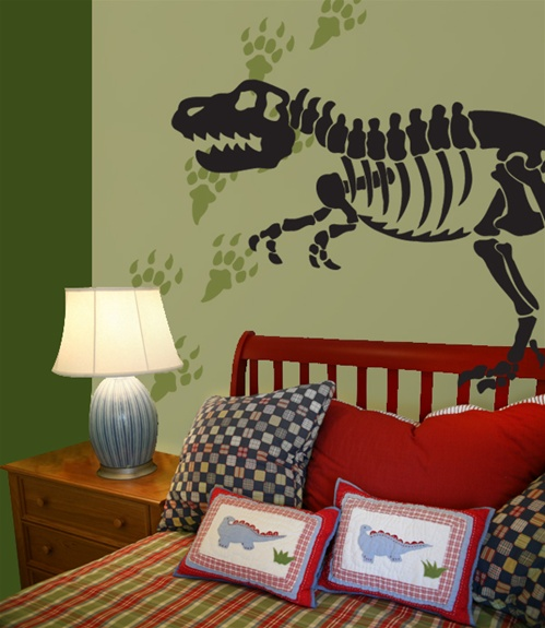 Dinosaur Bones  Tracks Wall Decals Stickers