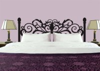 Curly Headboard wall decal sticker