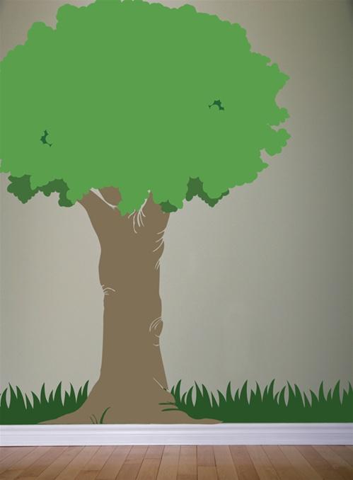 Oak Tree 7 Foot Tall Wall Decal Sticker