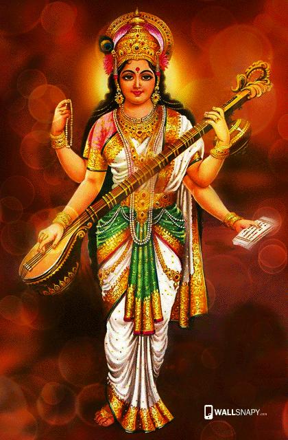 Cute Wallpaper Floral Hindu God Saraswati Hd Wallpapers Kalai Vani Mobile